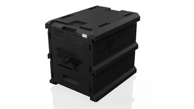 KÄNGABOX® Thermobox Tower 60 × 40 musta